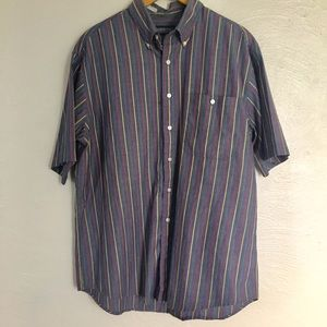 Lands End Striped Button up